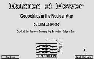 Pantallazo de Balance of Power: Geopolitics in the Nuclear Age para Atari ST