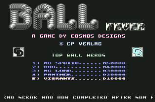 Pantallazo de Ball Fever para Commodore 64