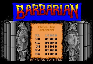 Pantallazo de Barbarian: The Ultimate Warrior para Amiga