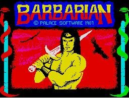 Pantallazo de Barbarian 1: The Ultimate Warrior para Spectrum