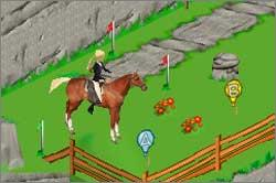 Pantallazo de Barbie Horse Adventures: Blue Ribbon Race para Game Boy Advance