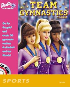 Caratula de Barbie Team Gymnastics CD-ROM para PC