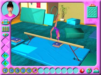 Pantallazo de Barbie Team Gymnastics CD-ROM para PC