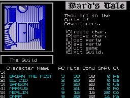 Pantallazo de Bard's Tale, The para Spectrum