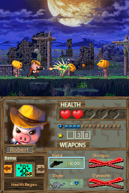 Pantallazo de Barnyard Blast: Swine of the Night para Nintendo DS