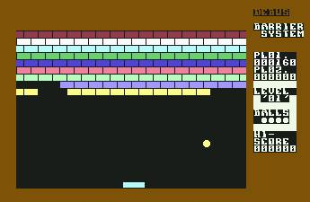 Pantallazo de Barrier System para Commodore 64
