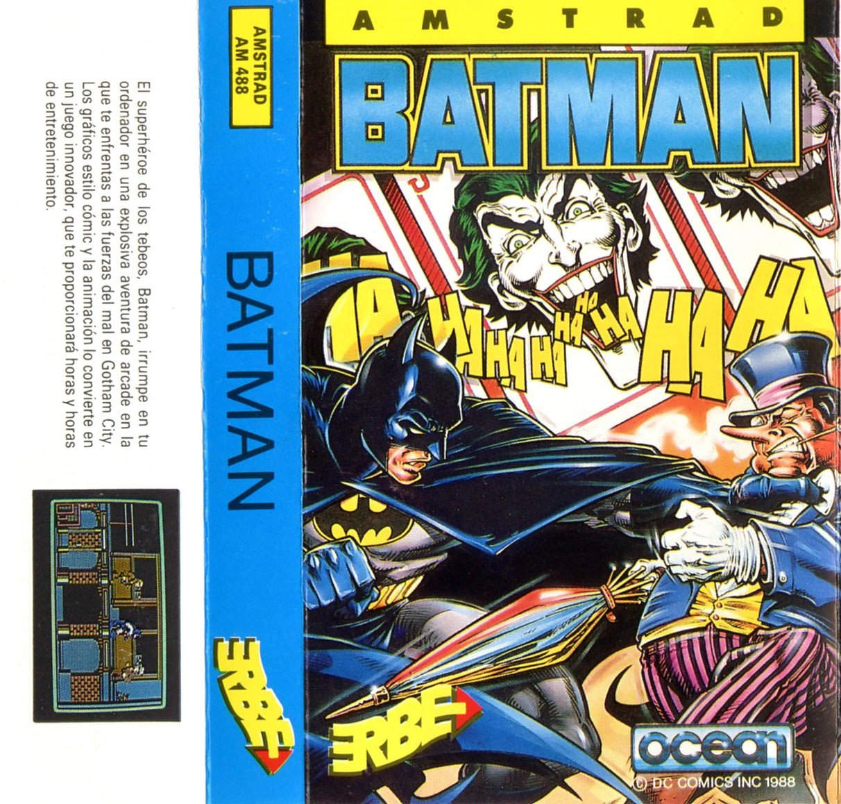 Caratula de Batman: The Caped Crusader para Amstrad CPC