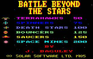 Pantallazo de Battle Beyond The Stars para Amstrad CPC