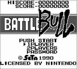 Pantallazo de Battle Bull para Game Boy