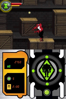 Pantallazo de Ben 10: Protector of Earth para Nintendo DS