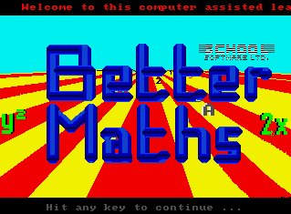 Pantallazo de Better Maths para Amiga