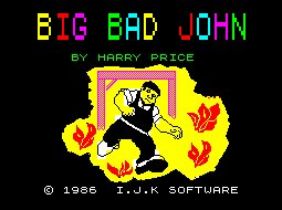Pantallazo de Big Bad John para Spectrum