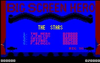 Pantallazo de Big Screen Hero para Amstrad CPC