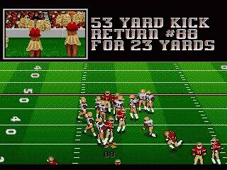 Pantallazo de Bill Walsh College Football 95 para Sega Megadrive