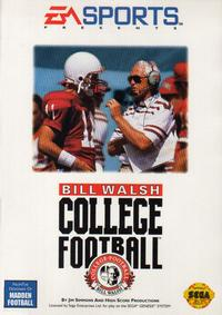 Caratula de Bill Walsh College Football para Sega Megadrive