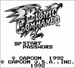 Pantallazo de Bionic Commando para Game Boy