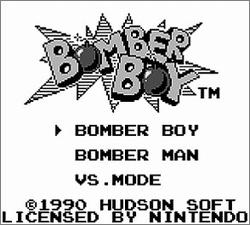 Pantallazo de Bomber Boy para Game Boy