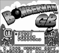 Pantallazo de Bomberman GB para Game Boy