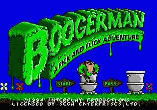 Pantallazo de Boogerman: A Pick and Flick Adventure para Sega Megadrive