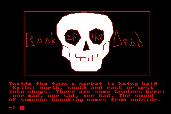 Pantallazo de Book Of The Dead para Amstrad CPC