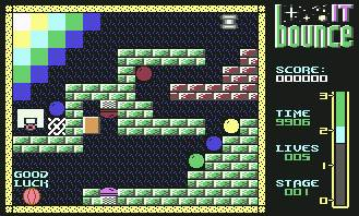 Pantallazo de Bounce It para Commodore 64