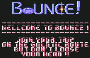 Pantallazo de Bounce para Commodore 64