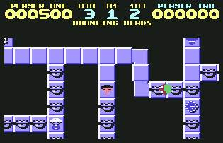 Pantallazo de Bouncing Heads para Commodore 64