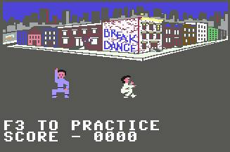 Pantallazo de Break Dance para Commodore 64