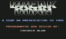 Pantallazo de Break Down para Commodore 64