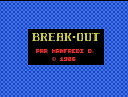 Pantallazo de Break Out para MSX