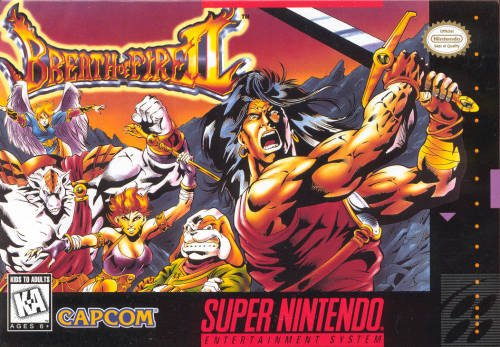 Caratula de Breath of Fire II (Europa) para Super Nintendo