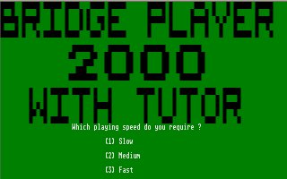 Pantallazo de Bridge Player 2000 para Atari ST