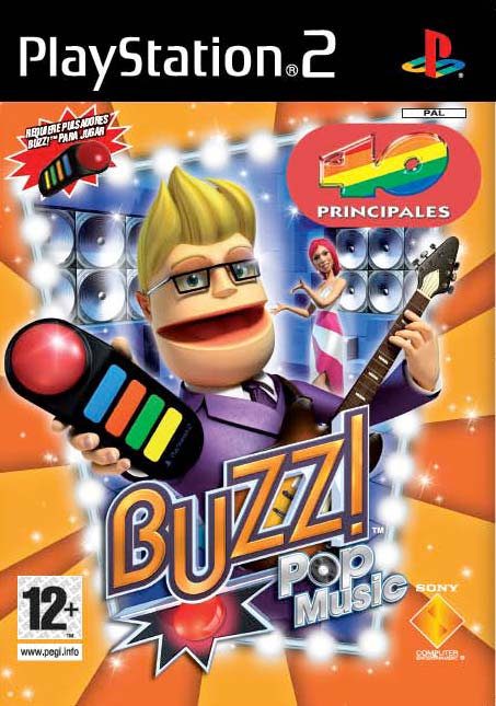 Caratula de Buzz!: Pop Music 40 Principales para PlayStation 2