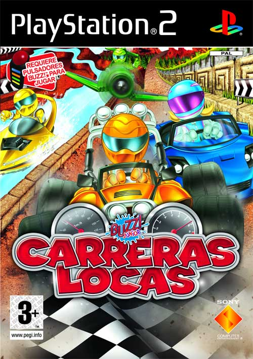 Caratula de Buzz! Junior: Carreras Locas para PlayStation 2