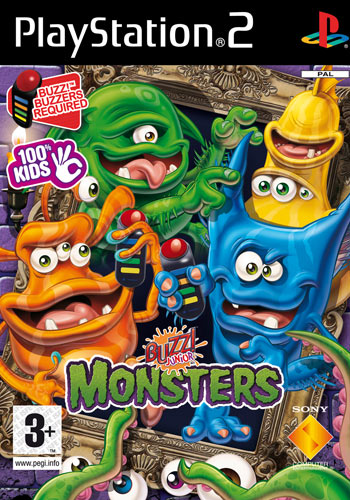 Caratula de Buzz! Junior: Monsters para PlayStation 2