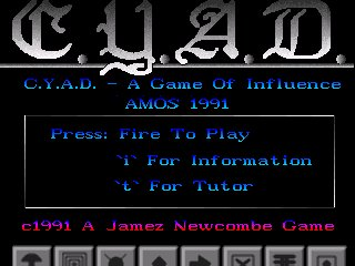 Pantallazo de C.Y.A.D. A Game of Influence para Amiga