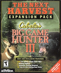 Caratula de Cabela's Big Game Hunter III: The Next Harvest -- Expansion Pack para PC