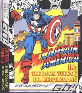 Caratula de Captain America in: The Doom Tube of Dr. Megalomann para Spectrum