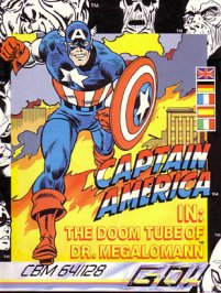 Caratula de Captain America para Commodore 64