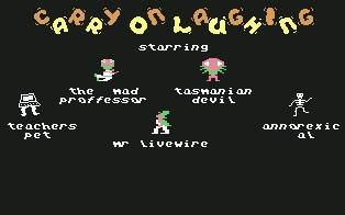 Pantallazo de Carry on Laughing para Commodore 64