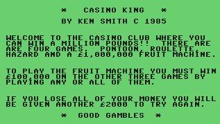 Pantallazo de Casino King para Commodore 64