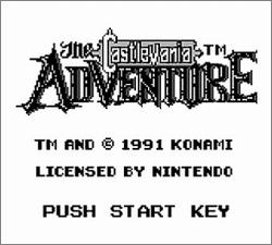 Pantallazo de Castlevania Adventure, The para Game Boy