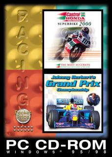 Caratula de Castrol Honda Superbike 2000 and Johnny Herbert's Grand Prix para PC