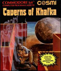 Caratula de Caverns of Khafka para Commodore 64
