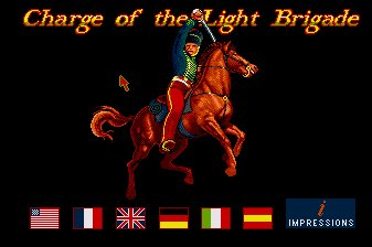 Pantallazo de Charge Of The Light Brigade para Amiga