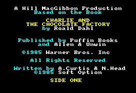 Pantallazo de Charlie And The Chocolate Factory para Amstrad CPC