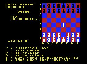 Pantallazo de Chess Player para MSX