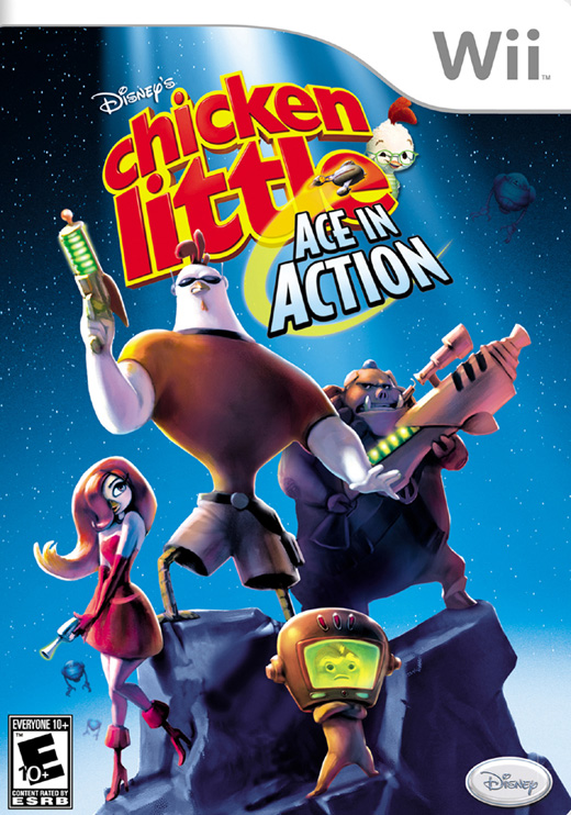 Caratula de Chicken Little: Ace in Action para Wii