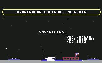 Pantallazo de Choplifter para Commodore 64