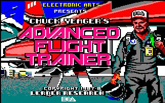 Pantallazo de Chuck Yeager's Advanced Flight Trainer para Amstrad CPC